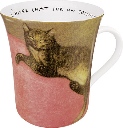Les chats Steinlen red - mug
