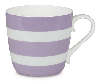 Colours/Polka stripes/lilac - hrnek