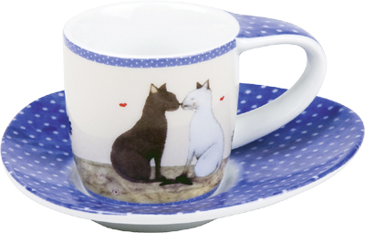 Cat couple - espresso