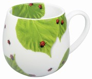 Ladybird on leaves - snuggle mug