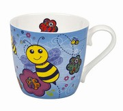 Mug Colorful Animals Bee blue