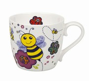 Mug Colorful Animals Bee white